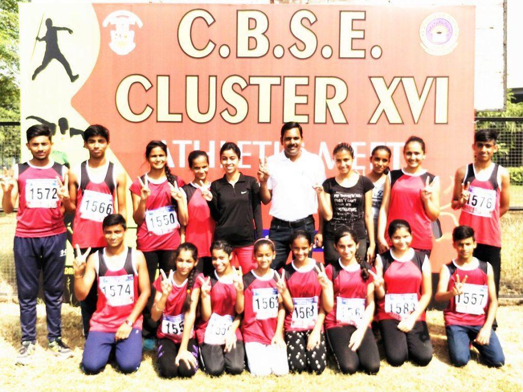 CBSE Cluster XVI Athletics Winner