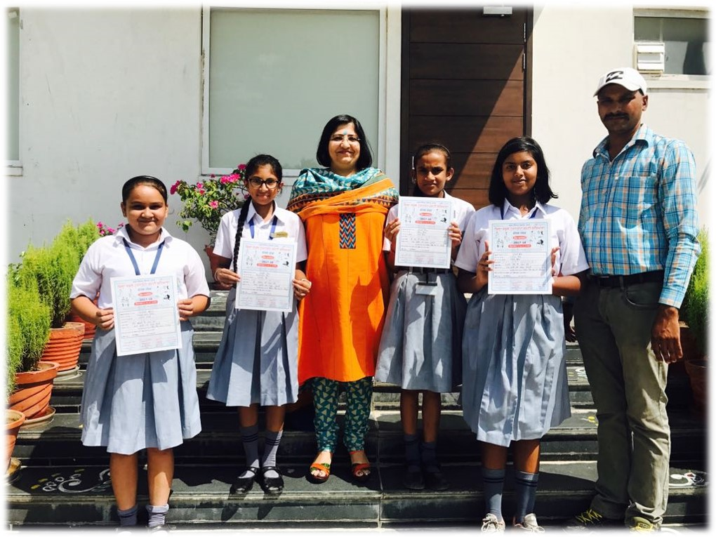U-14 Girls selected for District level Volleyball