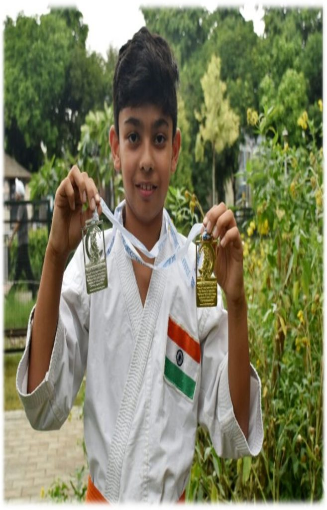 Sehajbir Singh Gill-1 Gold Medal in Kumite & 1 Silver in Kata