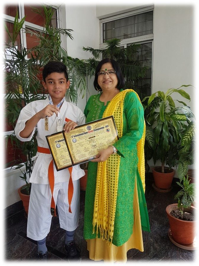 Sehajbir Singh Gill selected for World Cup Martial Arts to be held in Switzerland.