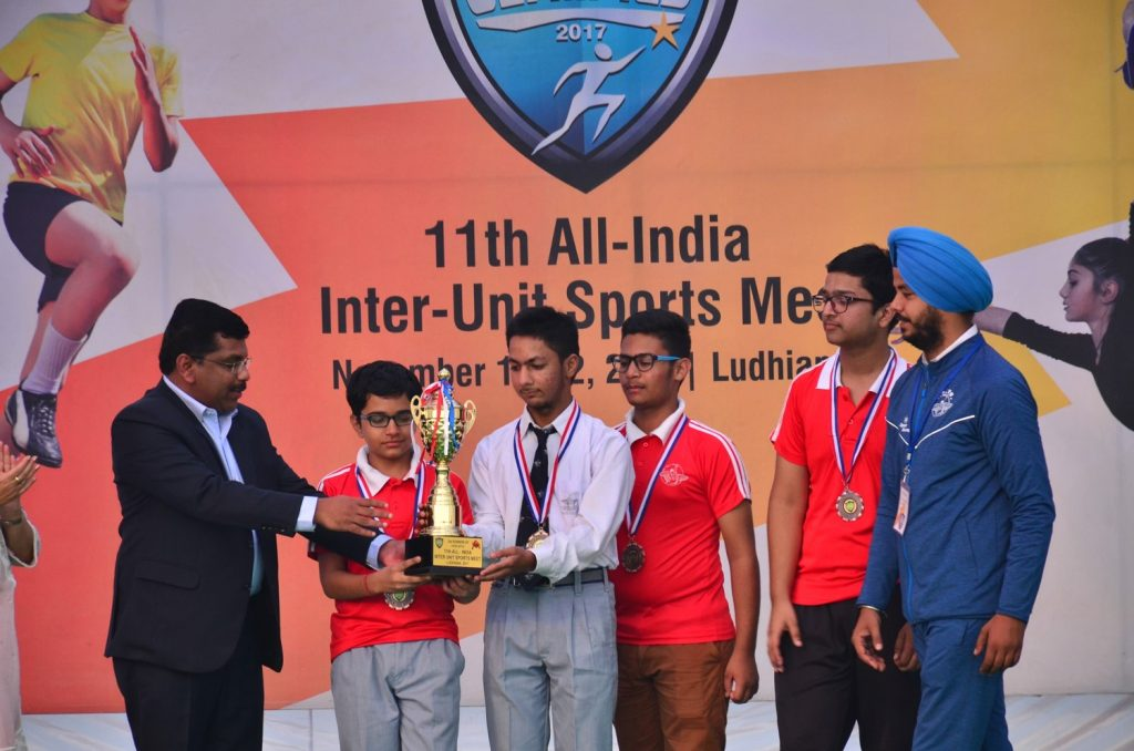 3rd in Chess in 11th All India Inter Unit Bal Bharati Sports Meet
