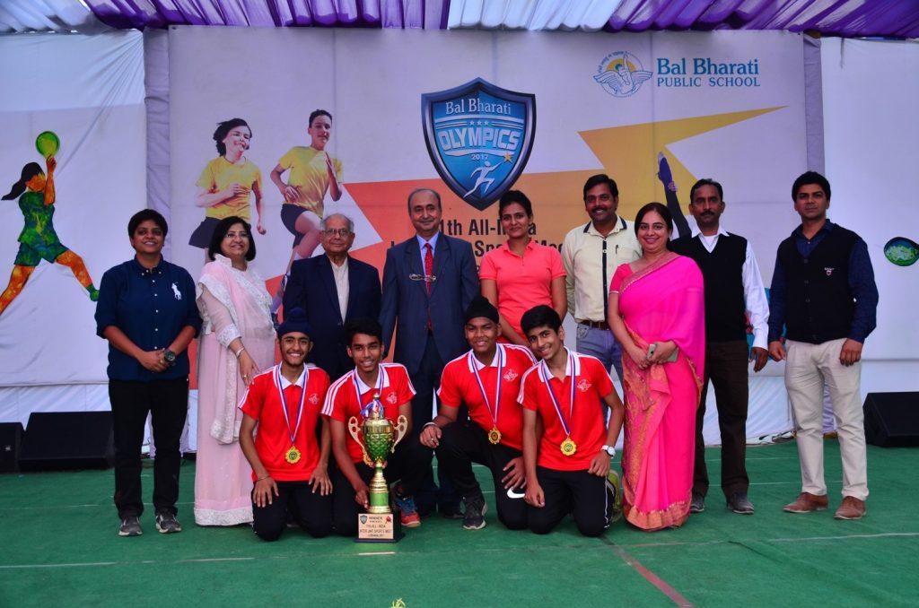 1st in Badminton-11th All India Inter Unit Bal Bharati Sports Meet
