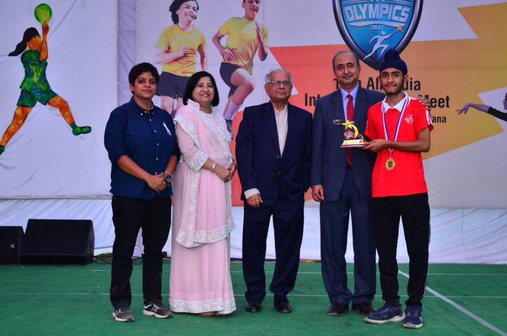 Gursahib Singh as Best Player (Badminton) -11th All India Inter Unit Bal Bharati Sports Meet