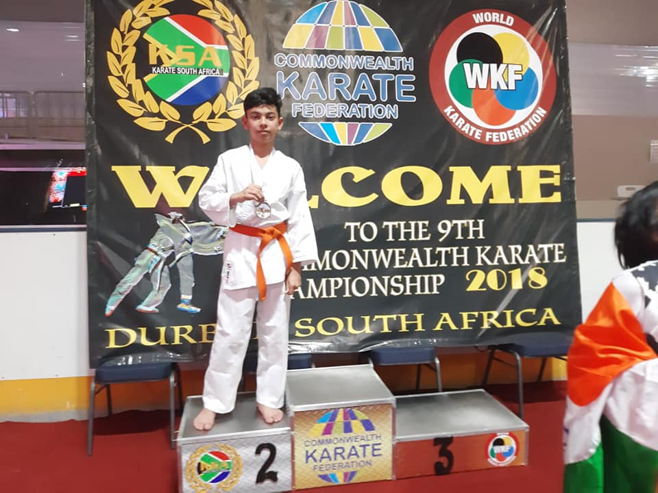 Sehajbir Singh of Class Vi got silver medal in COMMONWEALTH GAMES 2018 South Africa