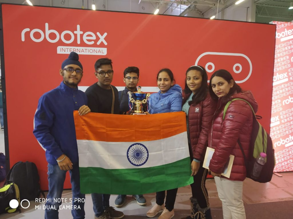 Best Team Work & Fastest Lego Line Following  in an annual event of Robotex International held in Tallinn, Estonia from 30th Nov.2018 to 2nd Dec.2018